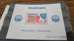 LOT 429710 TIMBRE DE COLONIE POLYNESIE NEUF** LUXE - Blocs-feuillets