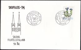 NORWAY - Skien 6.10.1974 «Skifilex Stamp Exh» (postmark With The Nobel Prize Laureate Henrik Ibsen) - Nobel Prize Laureates