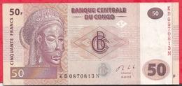 Congo (RDC) 50 FRANCS  Du 30/06/2013 ----VF/SUP - Congo
