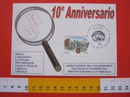 A.04 ITALIA ANNULLO - 1998 PETTINENGO BIELLA SAGRA DELLA CASTAGNA FRANC. PERGOLA FOSSILI AMBIENTE - Agricoltura