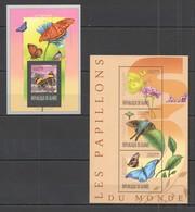 VV906 2013 GUINEE GUINEA FAUNA BUTTERFLIES LES PAPILLONS DU MONDE KB+BL MNH - Papillons