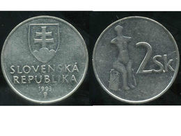 SLOVAQUIE  2 Koruna 1993 - Eslovaquia