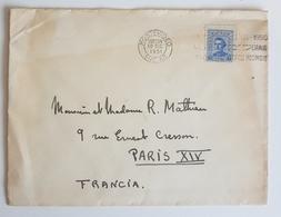 1951 Montevideo Uruguay - Paris France - Uruguay