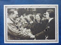 Postkarte Mit Hitler-Marke, Motiv: Hitler Und Jugendgruppe, Ungebraucht, Deutsches Reich Ganzsache - Deutschland