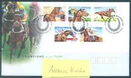 AUSTRALIA  - FDC - 15.10.2002 - CHAMPIONS OF THE TURF - Yv 2071-2075 - Lot 18611 - Premiers Jours (FDC)