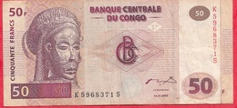 Congo (RDC) 50 Francs  Du 04/01/2000 ----VG/TTB - Congo