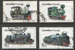 Thailand - 1990 Locomotives Used   Sc 1375-8 - Thailand