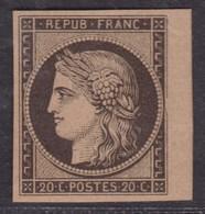 France (1862) - Réimpression Yv N°3 Type Napoléon III. Un Petit BDF Sinon TB - 1862 Napoléon III