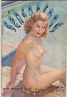 """REVUE MENSUELLE EROTIQUE """" SENSATIONS """". N° 45.  ANNÉE 1952. PHOTOS DE NUS ACCOMPAGNÉES DE TEXTE - Erotique (Adultes)"""