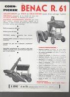 Berdoues (32 Gers) Prospectus BENAC Corn Picker (matériel Agricole) (PPP9938) - Advertising