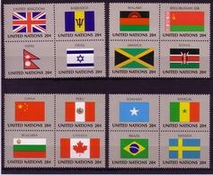 UNO NEW YORK MI-NR. 422-437 ** HERZSTÜCK FLAGGEN (IV) 1983 GB CHINA KANADA - Stamps