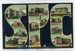 Syria Syrian Protestant College Buildings Damas Damascus Sarrafian Bros Beirut Postcard Lebanon - Syria