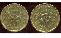 SINGAPOURE 1 Dollar 1988 - Singapour