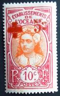 1915 Océanie Yt 41 , Mi 46 . Red Cross . Neuf  Charnière - Océanie (Établissement De L') (1892-1958)