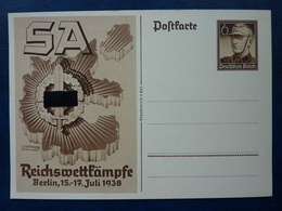 Postkarte Reichswettkämpfe Berlin Juli 1938 , Ungebraucht, Deutsches Reich Ganzsache - Deutschland