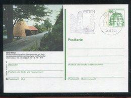 """Bundesrepublik Deutschland / 1980 / Bildpostkarte """"Witten"""" Mit Bildgleichem Stempel (1/455) - Cartes Postales Illustrées - Oblitérées"""