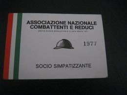 TESSERA ASSOCIAZIONE NAZIONALE COMBATTENTI E REDUCI - Historical Documents