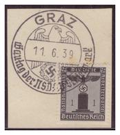 Dt-Reich (007222) Sonderstempel Auf Briefstück, Graz, Gautag Der NSDAP Steiermark, Gestempelt Am 11.6.1939 - Deutschland