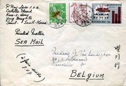 40542 South Korea, Circuled Cover 1964 From Seoul To Belgium - Korea, South