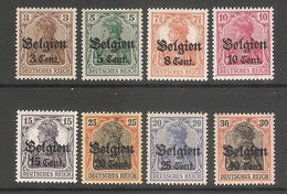 004834 German Occupation Of Belgium 1916 MH Selection - Zone Belge