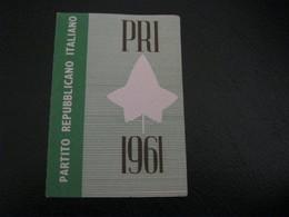 TESSERA PRI 1961 - Documenti Storici
