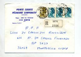 Lettre Recommandee Sete - Poststempel (Briefe)