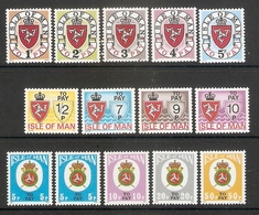 005290 Isle Of Man Postage Due Selection MNH - Man (Ile De)