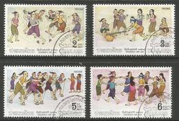 Thailand - 1991 Children's Games Used   Sc 1379-82 - Thailand