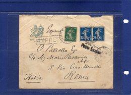 ##(ROYBOX1)-Postal History- France 1915- Hotel Chatam-Paris Expres Cover To Roma - Italy - Francia