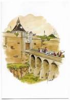 Blaye Illustrateur Delvallé Maison Du Vin De Blaye Carte 2 Volets - Blaye