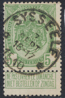 """Armoiries - N°83 Obl Relais """"Sysseele"""" (1910) - 1893-1907 Coat Of Arms"""