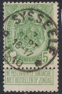"""Armoiries - N°83 Obl Relais """"Sysseele"""" (1910) - 1893-1907 Armoiries"""