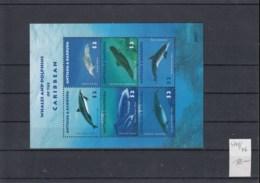 Antigua Und Barbuda (BBK) Michel Cat.No. Mh/** Sheet 4741/4746 Whale - Antigua Et Barbuda (1981-...)