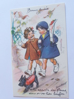"""Bouret Germaine  """" On Lui Apporte Des Fleurs Mais..on Va Bien Bouffer!.."""" Enfants Chien  M D PARIS  Bouret B A - Bouret, Germaine"""