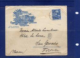 ##(ROYBOX1)-Postal History- Austria 1912- Hotel Kronprinzessin Stefanie-Abbazia  Cover To Firenze - Italy - 1850-1918 Empire