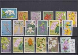 Barbados (BBK) Michel Cat.No. Mnh/** 365/380 + 420/421 Orchids - Barbades (1966-...)