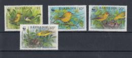 Barbados (BBK) Michel Cat.No. Mnh/** 770/773 Birds - Barbados (1966-...)