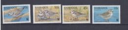 Barbados (BBK) Michel Cat.No. Mnh/** 952/955 Birds - Barbades (1966-...)
