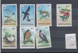 Grenada  (BBK) Michel Cat.No. Mnh/** 881/887 Birds - Grenada (1974-...)