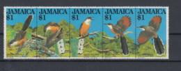 Jamaica (BBK) Michel Cat.No. Mnh/** 550/554 Birds - Jamaica (1962-...)