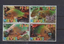 Nevis (BBK) Michel Cat.No. Mnh/** 2208/2211 Fish - St.Kitts-et-Nevis ( 1983-...)