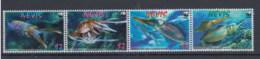 Nevis (BBK) Michel Cat.No. Mnh/** 2380/2383 Fish Strip - St.Kitts-et-Nevis ( 1983-...)