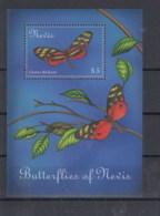 Nevis (BBK) Michel Cat.No. Mnh/** Sheet 191 Butterfly - St.Kitts-et-Nevis ( 1983-...)