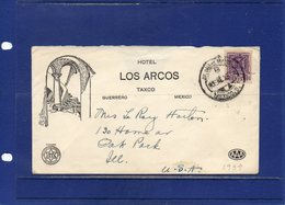 ##(ROYBOX1)-Postal History- Mexico 1939- Hotel Los Arcos-Taxco  Cover To U.S.A. - Messico