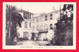 F-06-Nice-91P40  L'hôtel Meublé L'OASIS, Rue Gounod, La Cour Intérieure, Cpa BE - Cafés, Hotels, Restaurants
