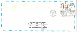 Onu, United Nations, Nations Unies,new York, Entier Postal 1973, Env Fdc,11c , Poste Aérienne,oiseaux,air Mail, 240x106 - Lettres & Documents