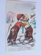 """Bouret Germaine  """" Puisqu On S Est Rentre Dans L Chou On Va Se La Souhaiter Bonne Et Heureuse!.. """" Enfants Au Ski M.D BA - Bouret, Germaine"""