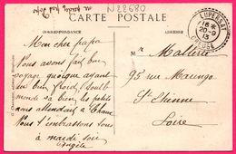 Cachet Facteur Boitier De Lupersat, Creuse - Circulée 1913 Sur Cp Lavault Sainte Anne - Train - Ed. G. CHAUMONT - Poststempel (Briefe)