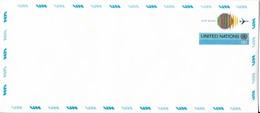 Onu, United Nations, Nations Unies,new York, Entier Postal 1975, Env Neuve13c , Poste Aérienne,avion,air Mail, 240x106 - New York -  VN Hauptquartier