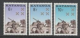 SERIE NEUVE DU KATANGA - GENDARMERIE KATANGAISE N° Y&T 79 A 81 - Policia – Guardia Civil
